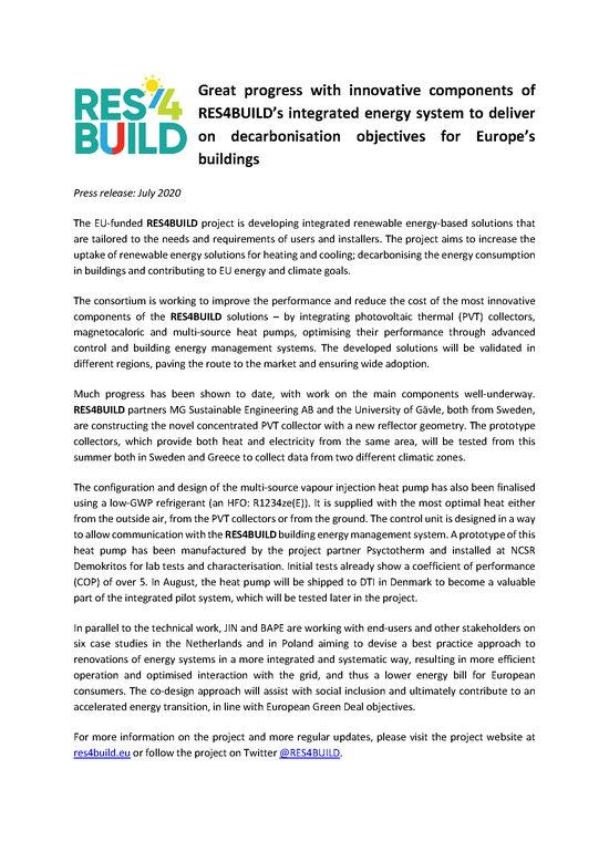 Press Release #2